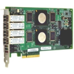 QLE2464-CK Qlogic 4Gbps quad-port Fibre Channel-to-x8 PCI Express adapter, multi-mode optic