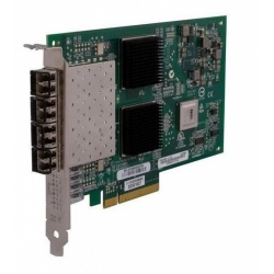 QLE2564-CK Qlogic 8Gbps quad-port Fibre Channel-to-x8/x8 PCI Express adapter, multi-mode opti